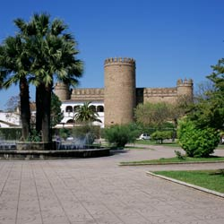 Zafra Parador castle hotel towers